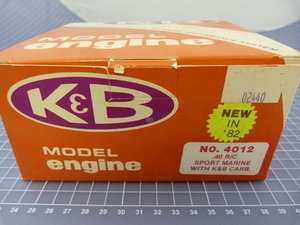 K&B 40 R/C Sport Marine with K&B Carb. and Muffler