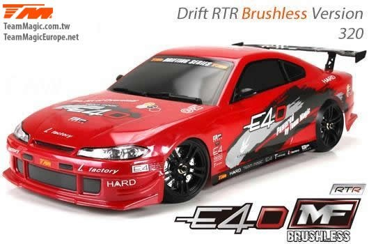 Auto - 1/10 Elektrisch - 4WD Drift - RTR - Brushless - Team Magic E4D-MF - S15