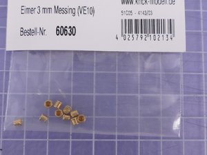 Eimer 3 mm Messing (VE10)
