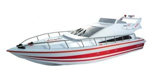 Atlantic Boat 2.4 GHz, rot, RTR, 25kmh