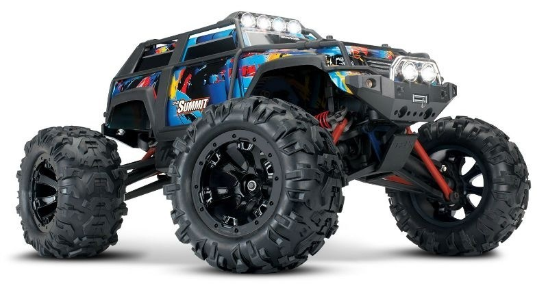 SUMMIT RTR Brushed 2.4GHz+Licht RocknRoll  1/16 4WD Monster-Truck + 12V-Lader (A-SP)