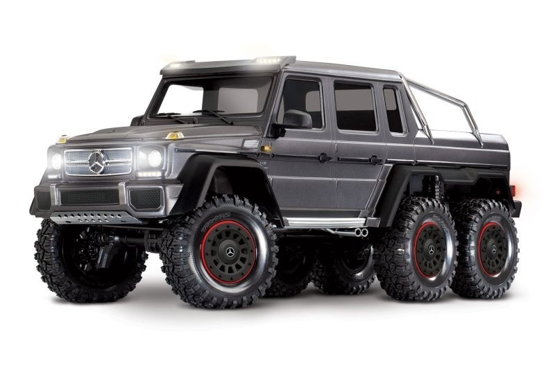 Mercedes-Benz G63 AMG 6x6 RTR ohne Akku/Lader inkl Licht 1/10 6WD Scale-Crawler Brushed silber