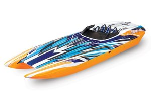 TRAXXAS DCB M41 Orange-X 40Zoll ohne Akku/Lader BL-Catamaran-Renn-Boot Brushless